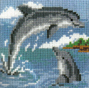 Dolphins At Play Cross Stitch Kit